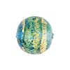 Serale Murano Glass Bead, Aqua/Aquamarine, Round, 16mm