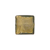 Steel Gray Murano Glass Gold Foil Square, 12mm