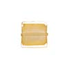 Clear Gold Foil 11-12mm Square Venetian Bead