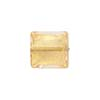 Rose 24kt Gold Foil 12mm Square Venetian Bead