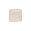 Clear Square White Gold 14mm, Venetian Glass Bead