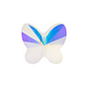 Swarovski 5754 Faceted Butterfly Bead, 8mm, Crystal AB