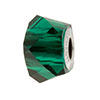 Swarovski 5928 BeCharmed Helix Bead, Emerald Green, 4.5mm Hole