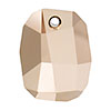 Swarovski 6685 Graphic Pendant, 19mm, Crystal Rose Gold