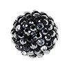 Swarovski Crystal Mesh Ball, 12mm, Black Multi w/Black Casing