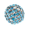 Swarovski Crystal Mesh Ball, 12mm, Blue Multi w/Silver Casing