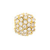 Beadelle Galaxy Large Hole Bead, 10mm, Gold w/ Crystal