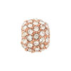 Beadelle Galaxy Large Hole Bead, 10mm, Rose Gold w/ Crystal