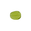 Transparent Leaf Glass 12x9mm Dark Periidot