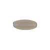 Transparent Flat Oval 16x6 Glass Gray