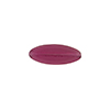 Transparent Flat Oval 16x6 Glass Fuchsia