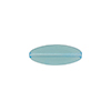 Transparent Flat Oval 16x6 Glass Aqua
