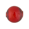 Murano Glass Bead Mouth Blown Ruby Red Round 20mm