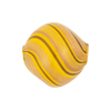 Yellow, Black & Aventurina Blown Murano Glass Diamond Bead, 20mm