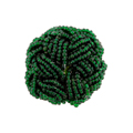 Seedbead Cabochons, Pair, Emerald