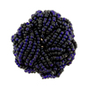 Seedbead Cabochons, Pair, Cobalt Blue