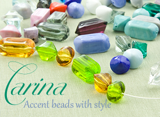 Transparent and Opaque Accent Beads in Murano Glass