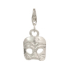 Arlecchino Mask Sterling Silver Charm with Trigger Clasp