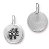 TierraCast Hashtag # Charm, Antique Silver Plated Pewter