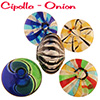 Cipollina Blown Murano Glass Beads