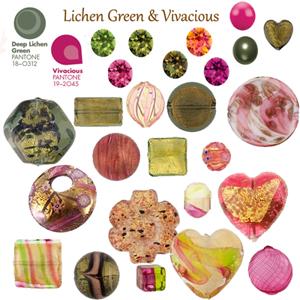Lichen Green and Vivacious a Rich Pink Pantone Fall 2013