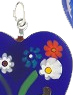 Murano Glass Pendant Bright Cobalt with Millefiori