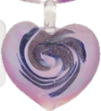 Lilac Murano Glass Heart Pendant
