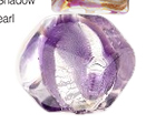 Plum Purple ZigZag Venetian Glass Bead