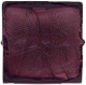 Murano Glass Bead Square Dark Amethyst