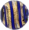 Cobalt and 24kt Gold Foil Murano Glass Bead Filigrana