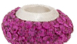Fuchsia Crystal Bling Large Hole