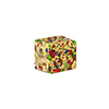 Exterior Gold Foil Multi-Colored Cluseau Murano Glass Bead, Cube, 10x12mm