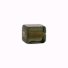 Murano Glass Bead Gold Foil Cube 10x12mm, Olivine