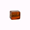 Murano Glass Bead Gold Foil Cube 10x12mm, Topaz