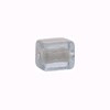 Murano Glass Bead Silver Foil Cubes 10x12mm Alessandrite