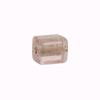 Murano Glass Bead Silver Foil Cubes 10x12mm Pink