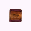Murano Glass Bead Gold Foil Cube 14mm Amethyst