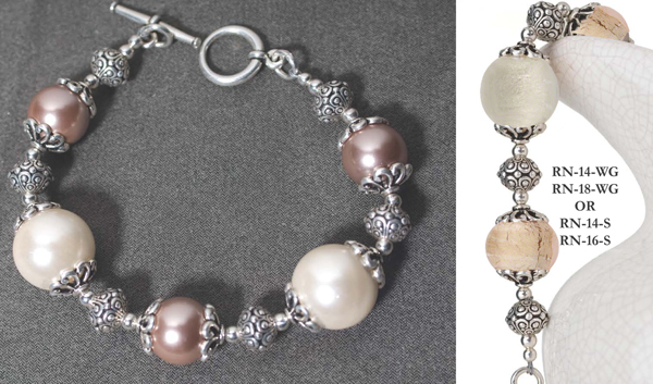 Exceptional Profusely Pearl Bracelet Murano Glass