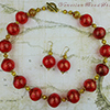 Red Bold and Gold Necklace