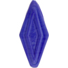 Venetian Bead Double Diamond 50mm Lapis Cobalt