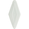 Murano Glass Bead Bead Double Diamond 50mm White