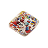 Bicone 22mm, Klimt Silver Foil Multi, Murano Glass Bead with Multi Colors