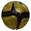 Murano Glass Bead Disc 20mm Gold Foil with Aventurina Sash
