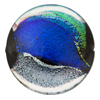 Venetian Glass Bead Dichroic Black Disc 30mm