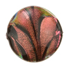 Venetian Bead Dichroic Disc 30mm Fenicio Black Salmon