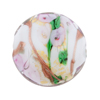 Alessandrite Bed of Roses Disc 25mm Murano Glass Bead