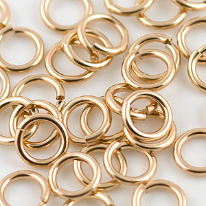 14 20 Gold Filled Locking Jump Ring 10mm Jewelry Findings