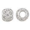 10mm Sterling Silver and CZ Bead, 4.7mm Hole