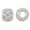 8mm Sterling Silver and CZ Bead, 3.3mm Hole