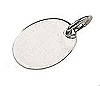 Sterling Silver Jewelry Tag, Blank, 7.3x5.5mm, Per Piece